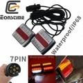 Eonstime набор 12 в 10 LED трейлер свет комплект задний свет трейлер свет номерной знак лампа 10 м высокое качество водонепроницаемый IP68