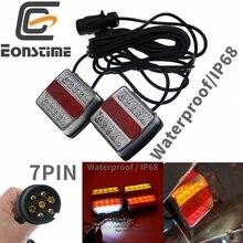 Eonstime Set 12V 10 LED Trailer Light Kit tail light Trailer Lights License Plate Light Lamp 10m high quality waterproof IP68