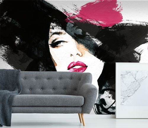 [Self-Adhesive] <font><b>3D</b></font> <font><b>Sexy</b></font> Lady Hat 126 <font><b>Wall</b></font> <font><b>Paper</b></font> mural <font><b>Wall</b></font> Print Decal <font><b>Wall</b></font> Murals image