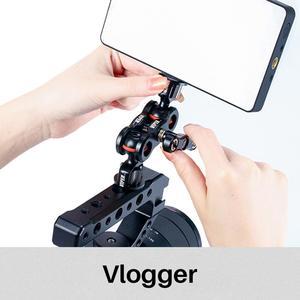 Image 5 - Vlogger Viper Articulating Magic Cánh Tay Ballhead Giá Đỡ Gắn Đế Đứng Dành Cho Máy Micro DSLR Camera Phụ Kiện Kẹp Bướm