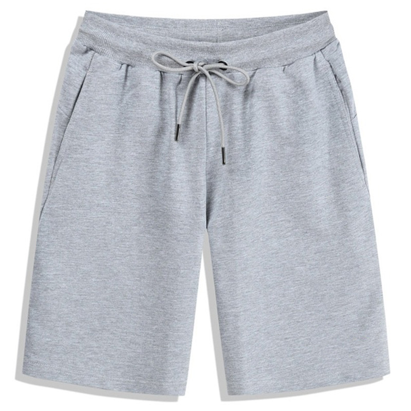 Cool Solid Color Shorts Trunks Fitness Workout Beach Shorts Man Breathable Cotton Gym Short Trousers