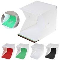Mini Folding Lightbox Portable Photography Studios LED Softbox For IPhone Camera