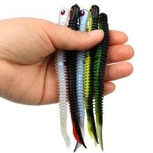 4 個最高品質日本ルアー人工餌釣具ワーム Grub シリコーンウォブラー 126 ミリメートル 5 グラム