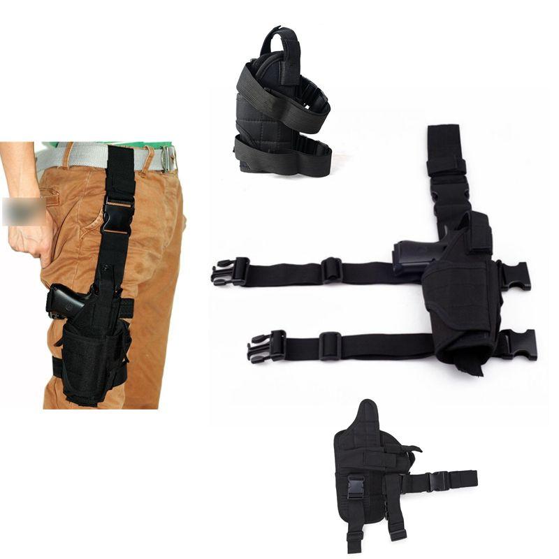 2018 Adjustabl Tactical Gota Perna Coxa Pistol Holster w/Mag Pouch Mão Direita Ao Ar Livre Tático Bolsa Glock 17 1911 m9 Coldre de Arma