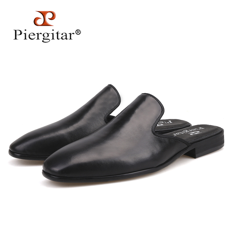 Piergitar new style Handmade men s leather slippers Fashion party and show men s dress shoes
