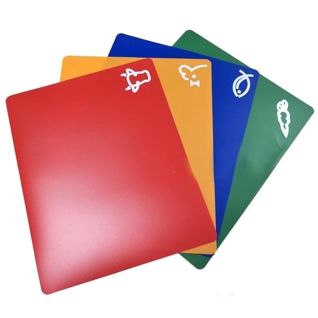 4 PCS Classification Chopping Block PP Anti-slip Rectangle Cutting Board 5