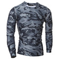 IGGY Mens camouflage Compression T Shirts Bodybuilding Skin Tight Long Sleeves Jerseys Clothings Exercise Workout Fitness TShirt