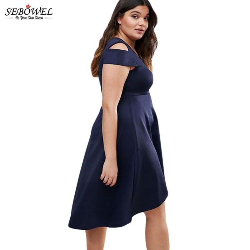 2017 Elegant Women Party Dress Summer Casual Plus Size Swing Dress