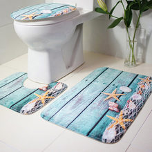 3pcs Bathroom Carpet Blue Shark Pedestal Rug Household Bathroom Non-slip Mat Lid Toilet Covers Bathroom Accessories Bath Mat Set(China)