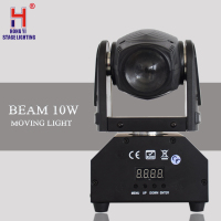 10W RGBW 4in1 LED Mini Moving Head Light DMX512 Beam Effect Light Professional Lighting