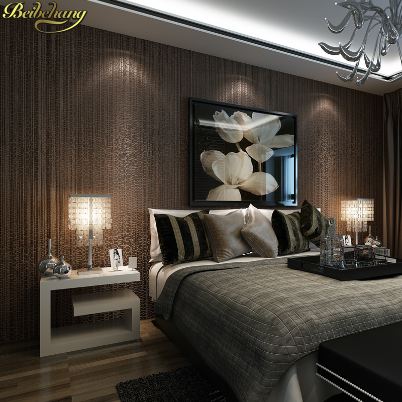 все цены на beibehang papel de parede 3D Modern minimalist grid wallpaper for walls 3 d wall papers home decor living room non woven bedroom онлайн