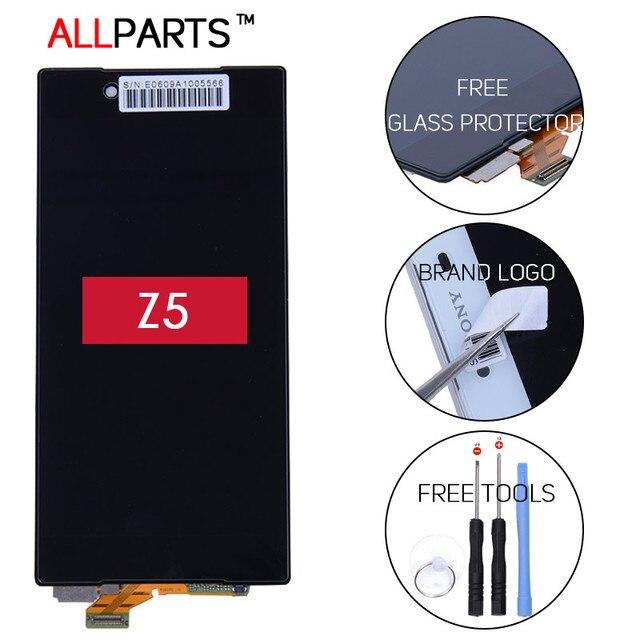 ALLPARTS Оригинальный Черный Белый 5.2 дюймов Дисплей Для SONY Xperia Z5 ЖК E6603 E6683 ЖК-Дисплей С Сенсорным Экраном с Рамкой дигитайзер