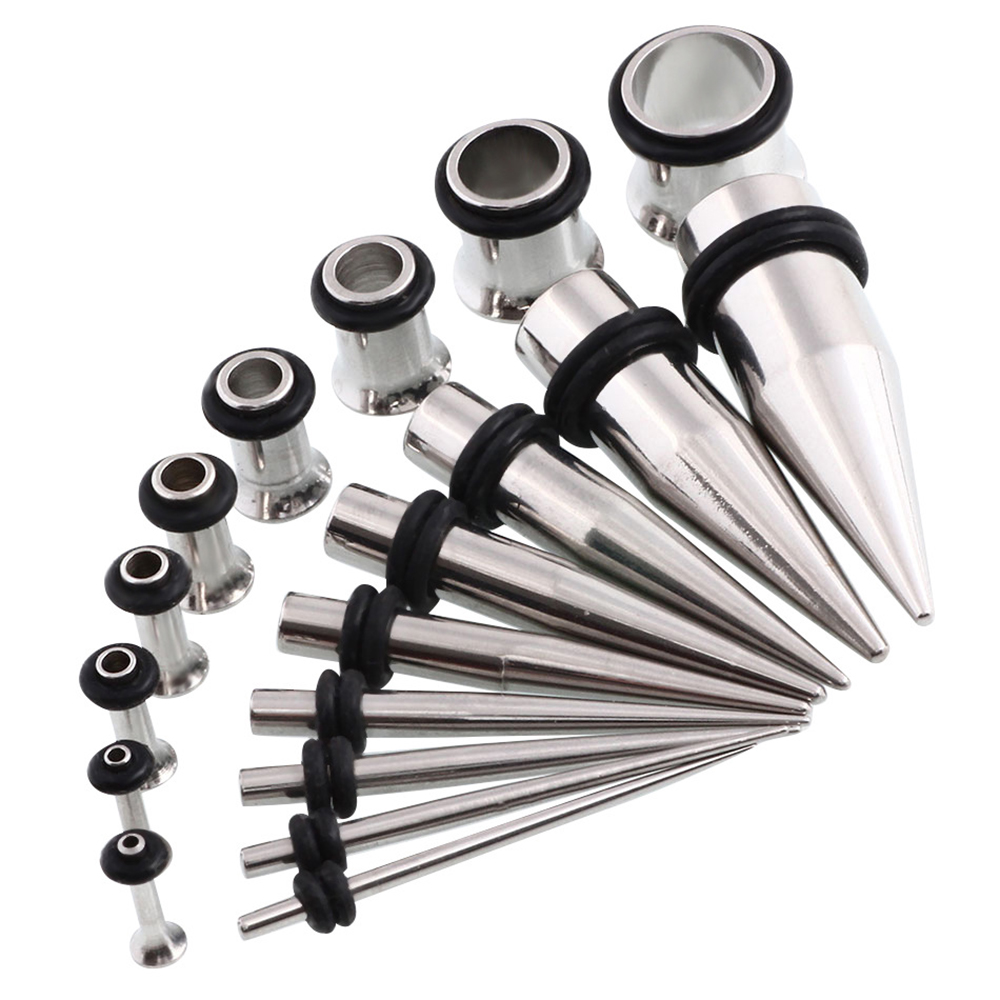 4 6 3 2.5 5 Ear Stretching Tunnel Taper Set Stainless Steel 1.6 8 /& 10 2
