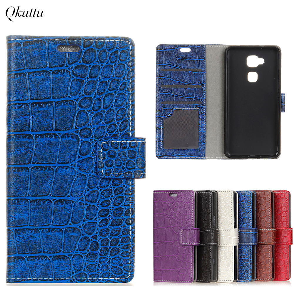 Qkuttu Vintage Crocodile PU Leather Cover For BQ VS Plus Protective Silicone Case Wallet Card Slot Phone Acessories