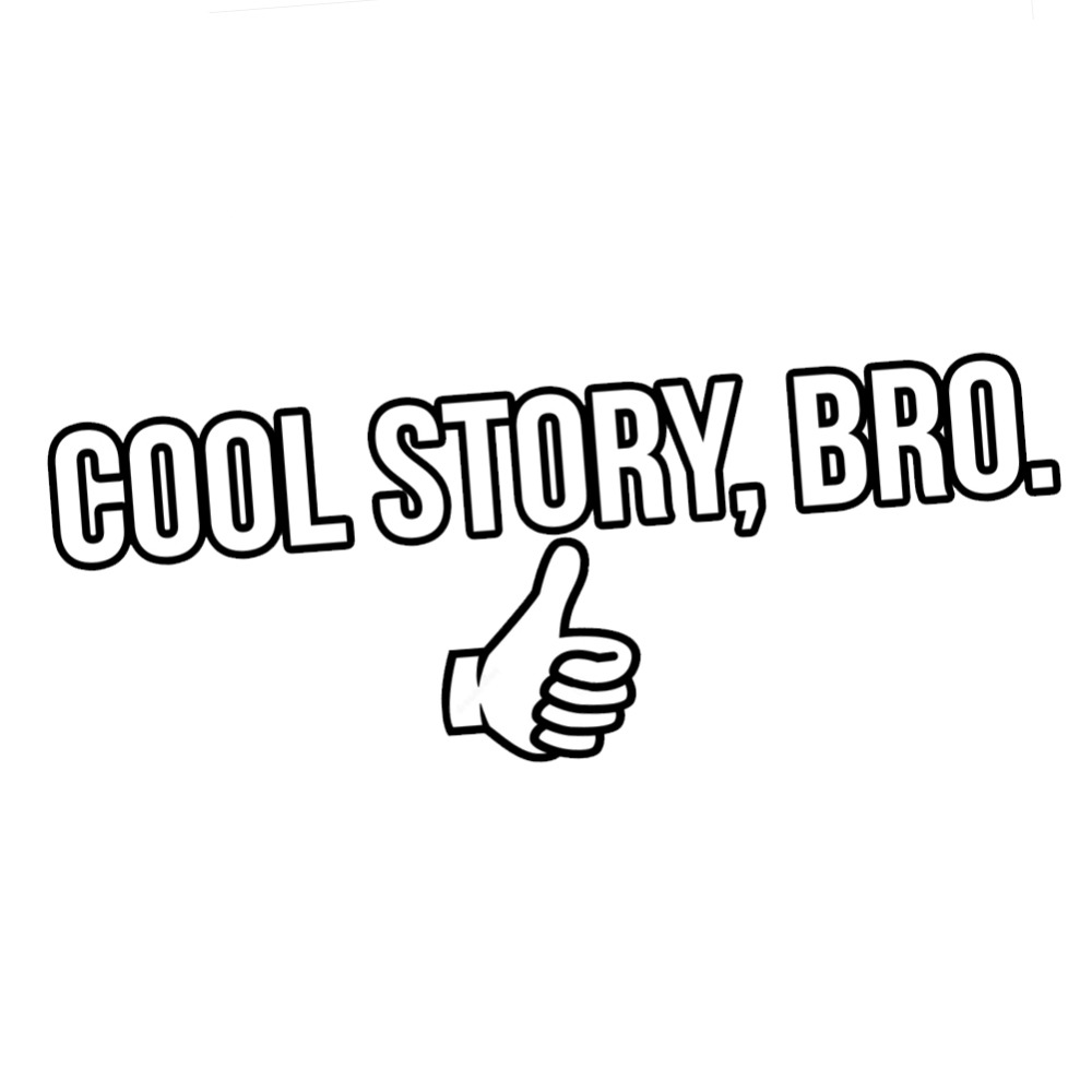 Funny thumbs up cool story bro vinyl stickers car decal waterproof removable art decor creative decals l291