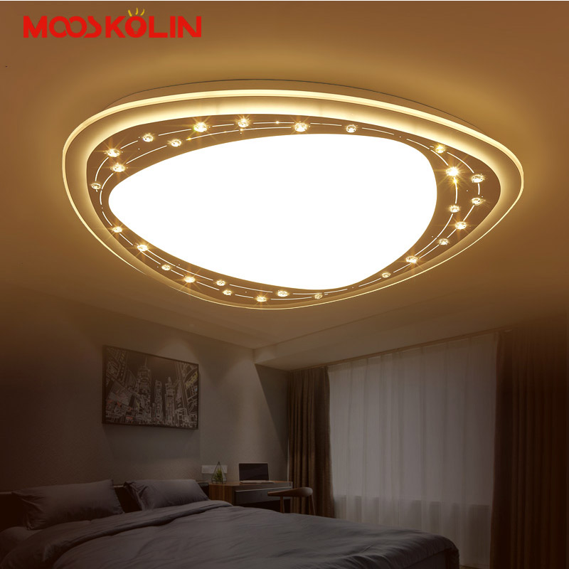 Modern Led Ceiling Lights For Living Room Bedroom Surface Mounted Dimmable lamparas de techo Crystal Beads Deco Ceiling Lamps crystal modern led ceiling lights for living room bedroom kitchen lustre lamparas de techo avize crystal ceiling lamp fixtures