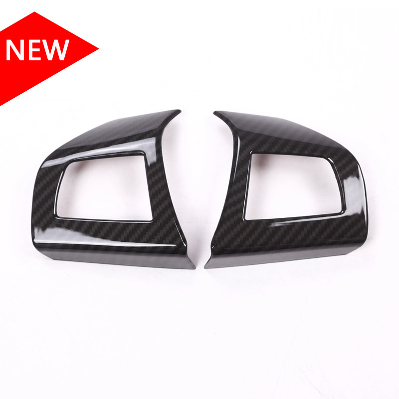 Newest ABS Plastic Carbon Fiber Color Steering Wheel Button Frame Cover Trim For Maserati Levante Ghibli