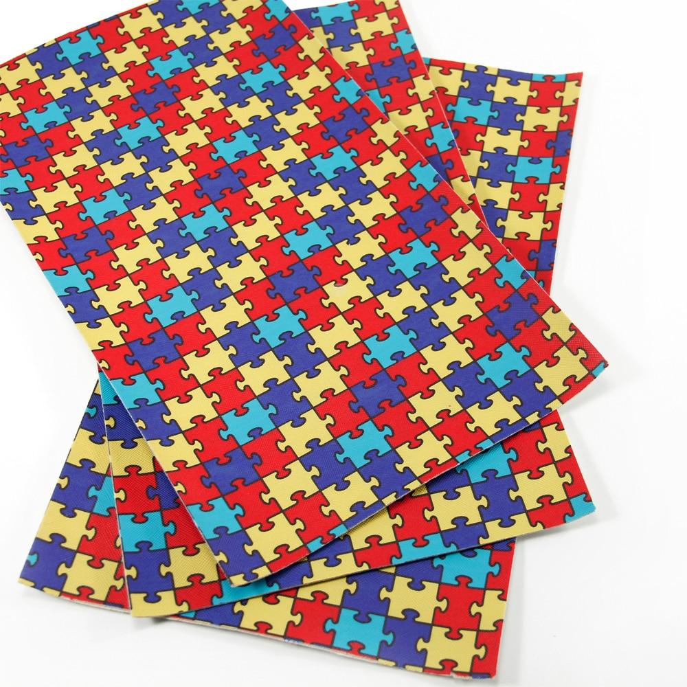 David accessories patchwork impresa tela de cuero sintético para niños tejido ro
