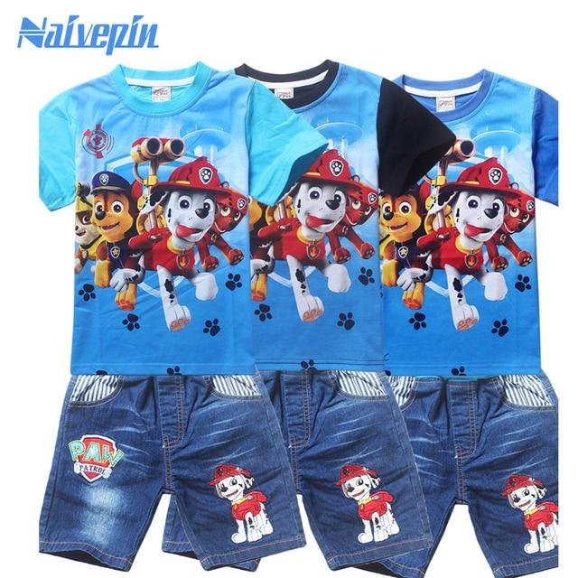 Boys Clothes 2017 Summer Children Short Sets Puppy Dog Patrol Clothes Kids Clothing Kleding Jongens Set Conjuntos Verano Ropa