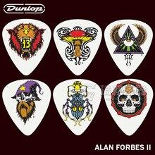 Dunlop alan forbes serie 2 gitarre 6 picks set 3 verschiedene messgeräte