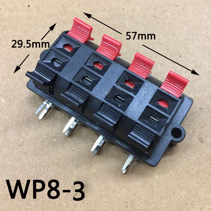 wholesale 100pcs 8pin push red and black spring push type speaker cable wire loudspeaker audio. Black Bedroom Furniture Sets. Home Design Ideas