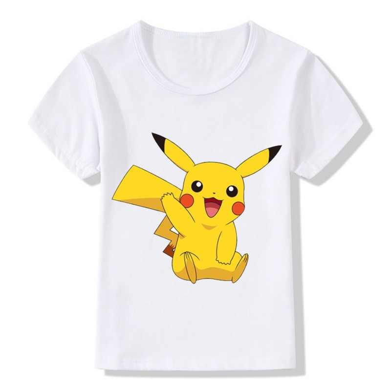 New Arrival Children POKEMON GO T-Shirts Kids Summer Cute Pikachu T shirt  Baby Girls 53da2838c9bd