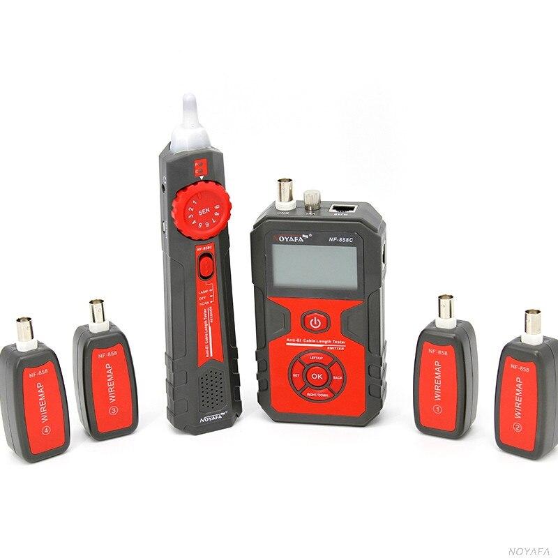 NOYAFA livraison gratuite NF-858C testeur de câble générateur de tonalité scanner RJ45 & BNC - 2