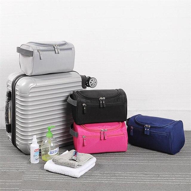 Cheap Waterproof Makeup Bag Big Women Men Nylon Travel Cosmetic Bag Organizer Case Make Up Toiletry Bag neceser maquillaje 25#