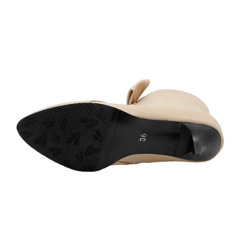 REAVE CAT/обувь; Женские Ботильоны на каблуке «рюмочка»; вечерние ботинки с острым носком и бантом; цвет черный, розовый; зимняя офисная обувь; большие размеры 40