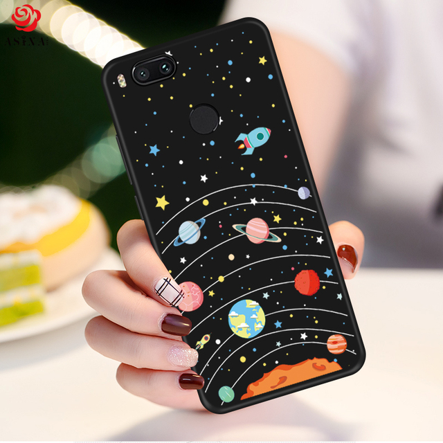 ASINA Cartoon Case For Xiaomi Mi A1 Cute Silicone Case Cover Original 3D Relief Soft Fundas Capa For Redmi 5 Note 5 4x Pocophone