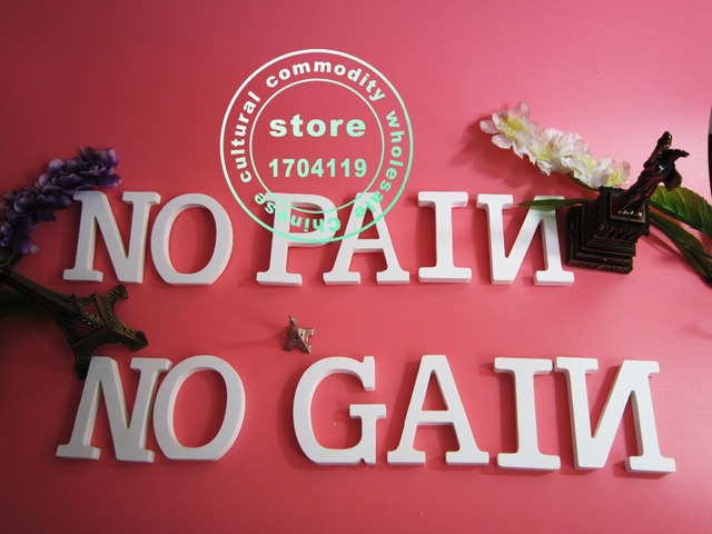 Tuba size  15cm 1pcs Home Decorations Artificial Wood White Letters wooden Letters of Wedding Birthday wedding decorations Gifts 4