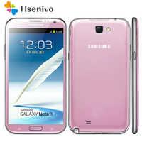 "100% Original Desbloqueado Samsung Galaxy Note 2 II N7100 Móvel Telefone 5.5 ""Quad Core 8MP GPS WCDMA Refurbished Smartphone"