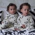 SUMMER KIDS ratón de impresión bebé ropa de manga larga t-shirt + PANTALONES 2 unids ropa conjuntos kikikids ropa de bebé niña pijama sí
