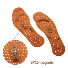 1 пара Unisxe стельки Магнитная терапия Магнит Корректор осанки стельки для мужчин/женщин обувь Комфорт колодки износостойкие Z50401