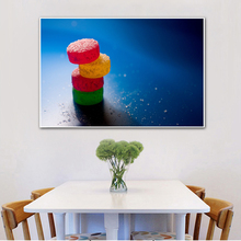 Silk Print Food Painting Orange Fruit Posters and Prints Cherry Art Kitchen Decor Wall Pictures for Living Room Home