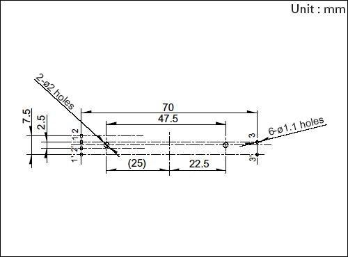 ponto médio do eixo ALPS 7.5 cm