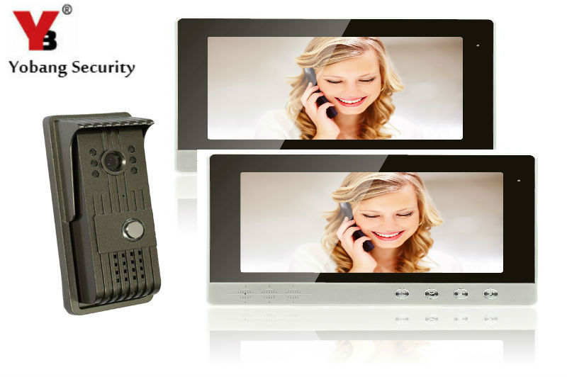 YobangSecurity Video Intercom Monitor 10Inch Video Door Phone Home Security Color TFT Wired for House/Office/apartment/Hotel