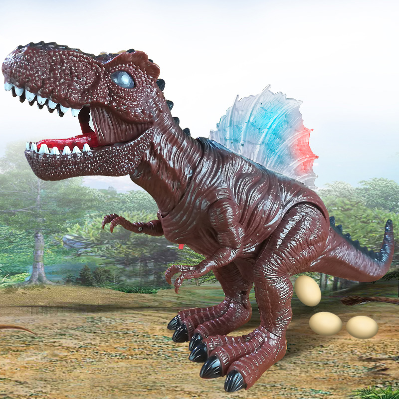 Electric Toy Large Size Walking Dinosaur Robot With Light Sound Tyrannosaurus Rex Battery Operated Kid Children Boy Gift