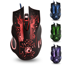 ФОТО wired optical mouse gaming mouse for gamer with 3d breast color-changing lights 6 buttons computer mice big mouse black msx9