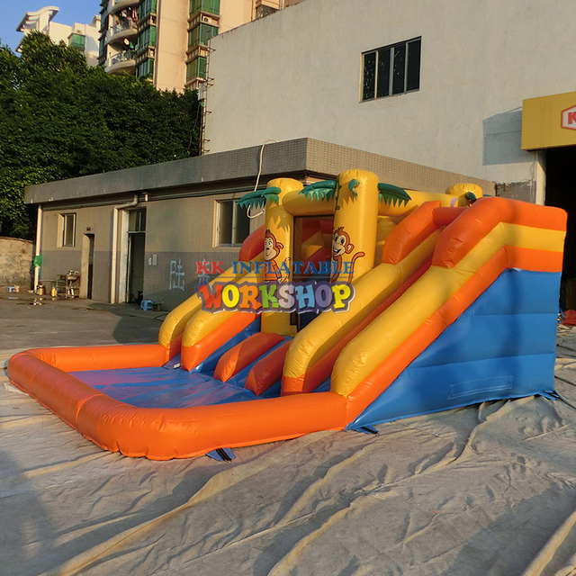 Climbing inflatable water slide combination,inflatable water park