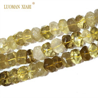 High Quality 100 Natural Lemon Quartz Stone Beads For Jewelry Making DIY Bracelet Necklace Earring Size