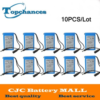 Wholesale 10PCS Newest High Quality Super Rechargeable Portable Lithium-ion Battery DC 12V 4000mAh DC12400 With Plug