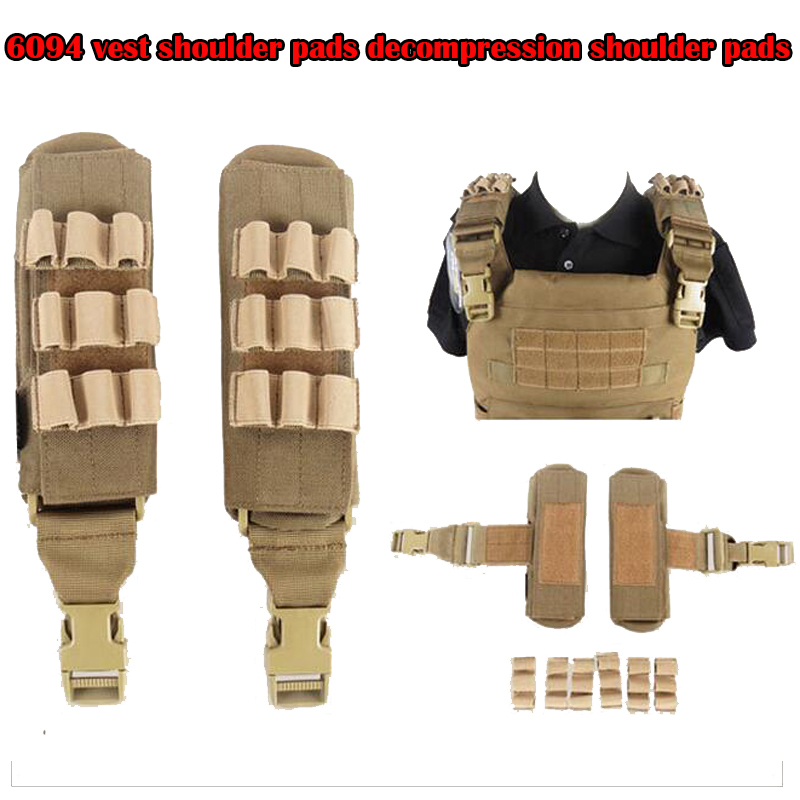 Military Army Tactical Gear Attachment 6094 Vest Decompression Shoulder Pads 1000D Nylon Water-resistant Wear-resistant Quick-dr