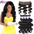 Ear To Ear Lace Frontal Closure With Bundles Brazilian Virgin Hair Body Wave With Closure Human Hair Lace Frontal With Baby Hair