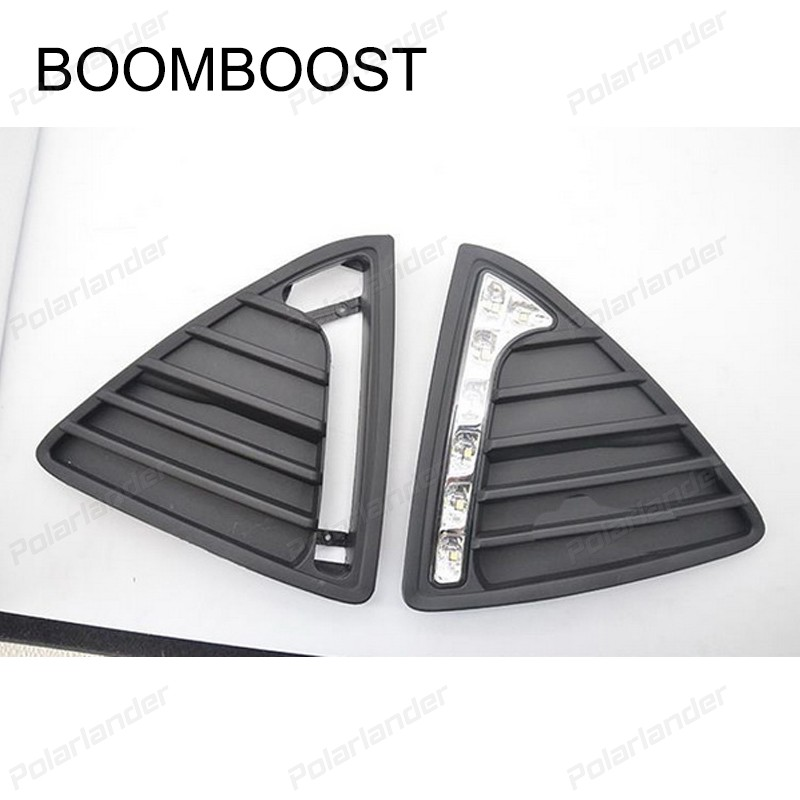 BOOMBOOST Car styling For Ford Focus 2012-2014 daytime running lights best price auto lamps best price 5pin cable for outdoor printer