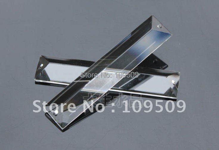 30 шт. 2.5 дюймов 2 отверстия ясно прямоугольник призмы хрусталь призмы прямоугольник капли лампа части