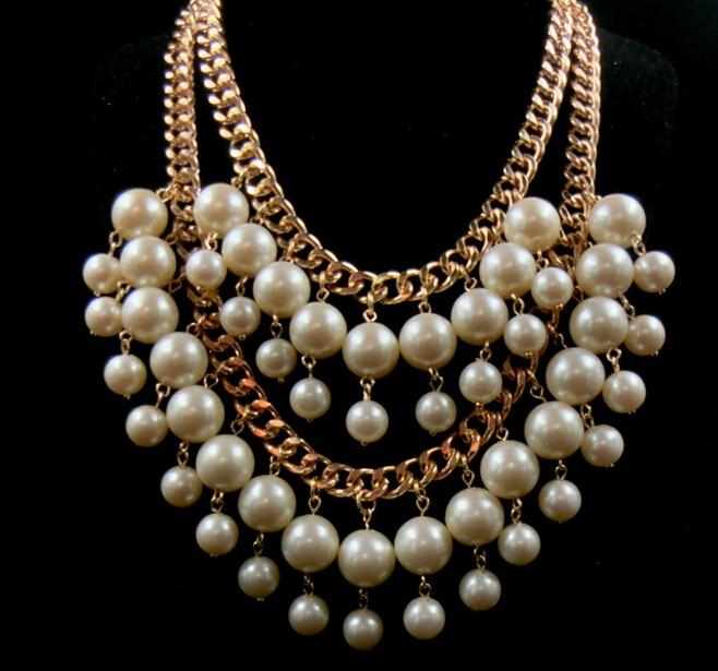 Élégant Femmes Longue Tassel Pendentif Chunky Choker Collar Collier Chic Bijoux Set