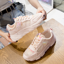 Fashion White Sneakers Women Flats 2019 New Pink Canvas Shoes