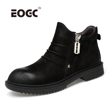 цены на Genuine leather men boots plus size high quality winter shoes men keep warm plush men snow boots shoes  в интернет-магазинах