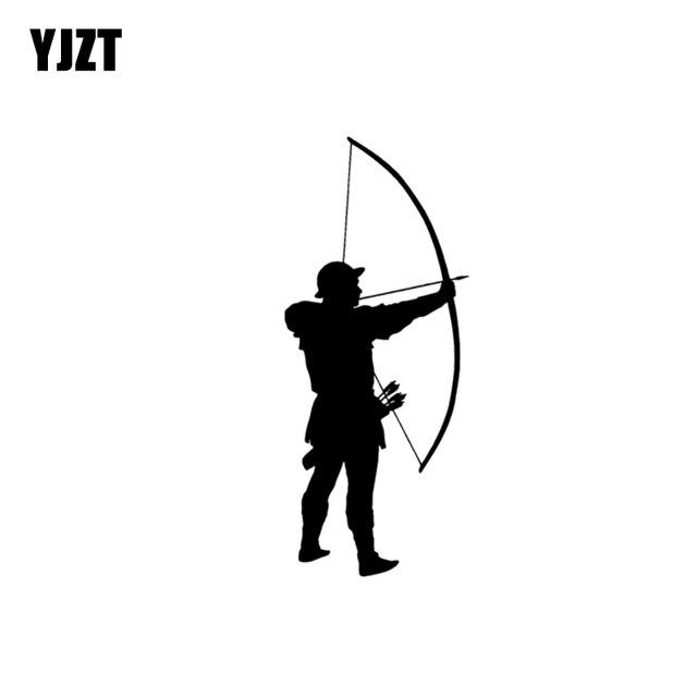 """YJZT 6.3 ס""""מ * 15 ס""""מ מסורתי ארצ 'ר חץ רכב מדבקה ויניל מדבקות שחור כסף C10-02278"""